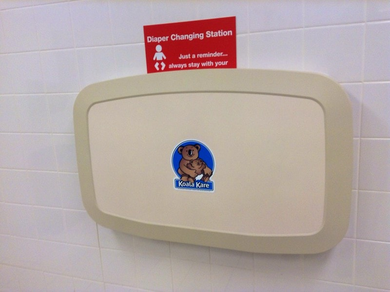 Koala Kare Baby Diaper Changing station fold out table.