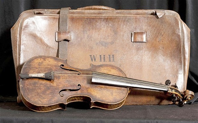 images with disturbing backstories, the titanic violin