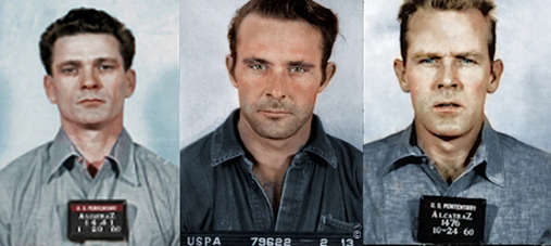 a picture of three prisoners
