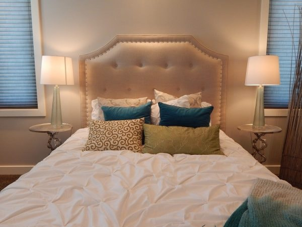 View of beautiful bed